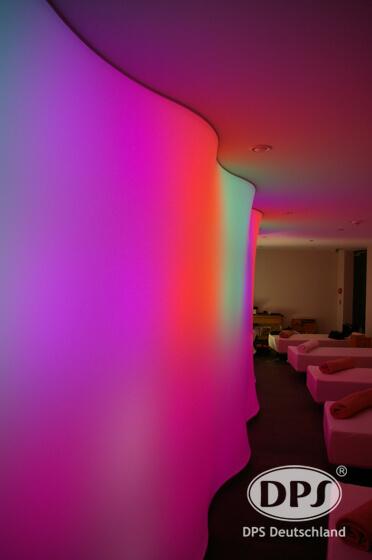 Spanndecken Hinterleuchtet mit RGB Leuchtmittel