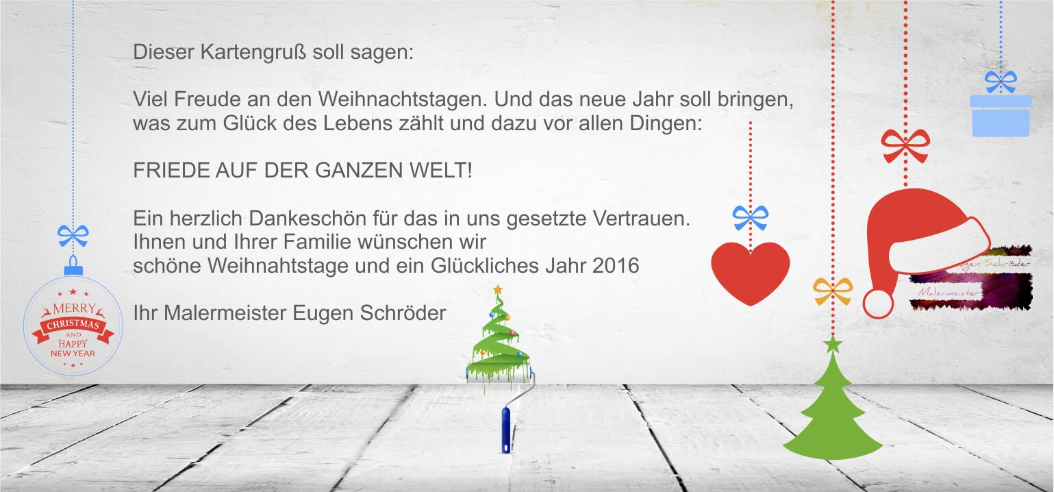 frohe weihnachten und ein gutes neues jahr - Malermeister Eugen ...