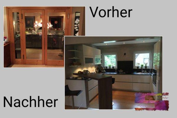 Küchen Renovierung aus Alt wird Modern