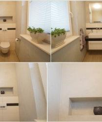 Fugenloses Bad oder Gäste WC
